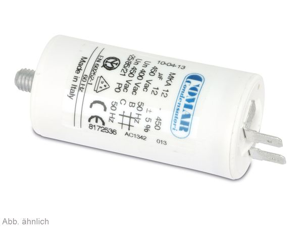 Motorbetriebskondensator COMAR MKA450, 80 µF/450 V~ - Produktbild 1