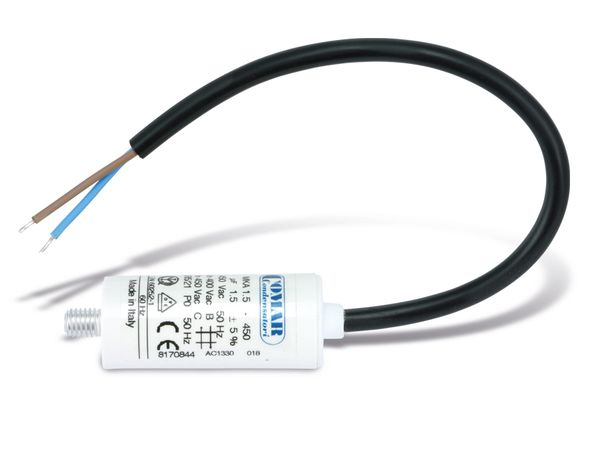 Motorbetriebskondensator COMAR MKA450, 1 µF/450 V~ - Produktbild 2