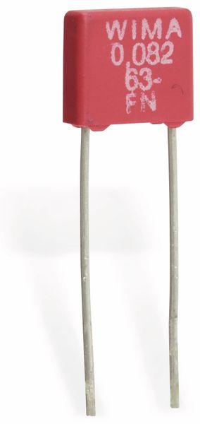 Folienkondensator WIMA MKS2, 82 nF, 63 V-