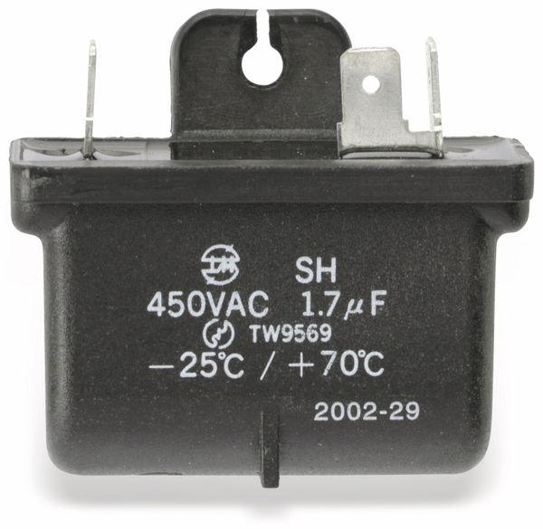 Motorbetriebskondensator SH, 1,7 µF/450 V~