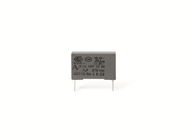 Funkentstörkondensator, KEMET R46, MKP, X2, 100 nF