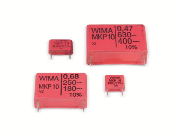 Folienkondensator WIMA MKP10 220nF, 630 V-, RM22,5