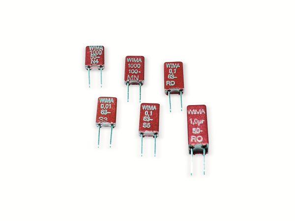 Folienkondensator WIMA MKS 02 100 nF, 63 V-, RM2,5