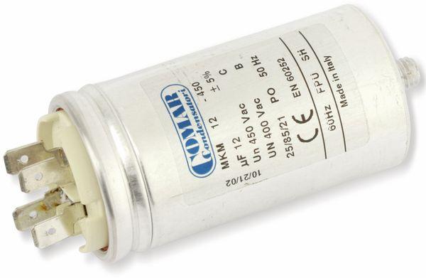 Motorbetriebskondensator COMAR MKM450, 12 µF/450 V~