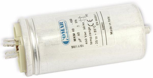 Motorbetriebskondensator COMAR MKM450, 40 µF/450 V~