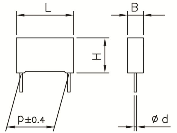 KEMET Funkentstörkondensator, R41, MKP, Y2, 300 V~, 1,0nF - Produktbild 2