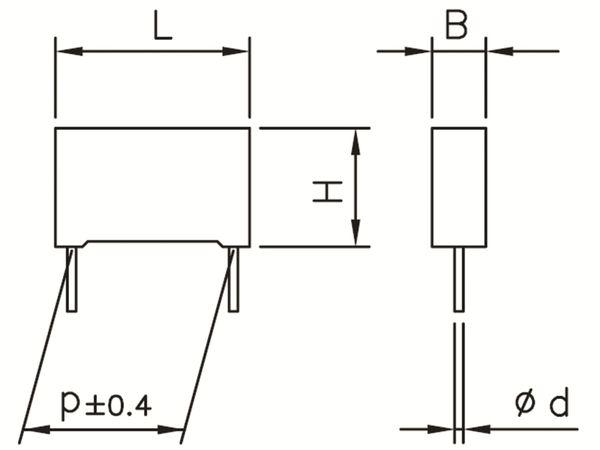 KEMET Funkentstörkondensator, R41, MKP, Y2, 300 V~, 10 nF - Produktbild 2