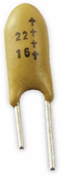 Tantalkondensator, 22µF, 16V