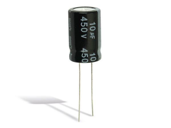 Elko YAGEO SH, 10 µF/450 V, 10 Stück - Produktbild 1
