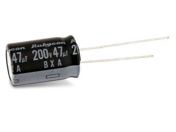 Elko, 47 µF/200 V