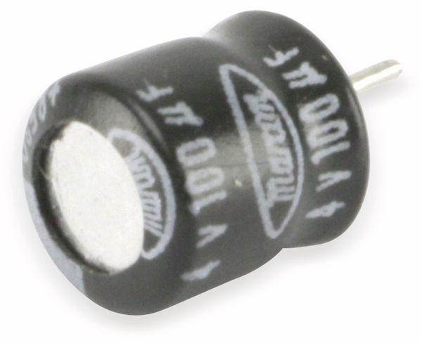 Mini-Elko, radial, 100 µF/4 V