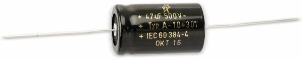 Elektrolytkondensator, 47µF, 500V