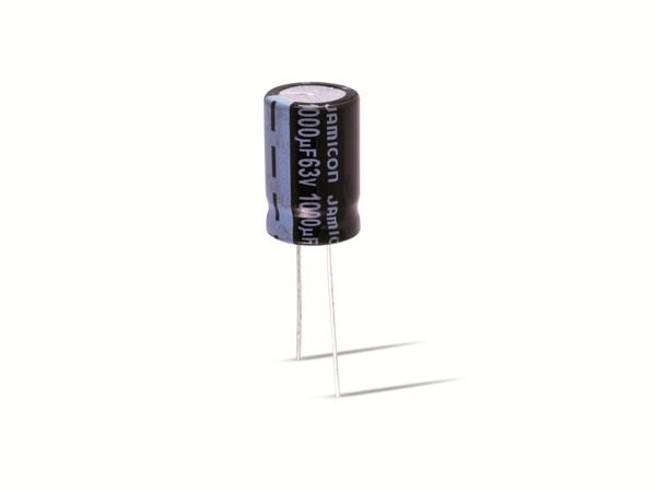 Elko, JAMICON, low E.S.R., 1000 µF, 25 V, RM5, 105°, radial