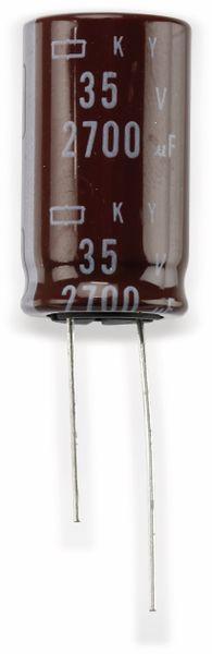 Elko, 2700µF/35V, radial, 105°C, RM7,5