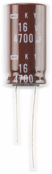 Elko, 4700µF/16V, radial, 105°C, RM7,5
