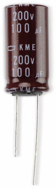 Elko, 100µF/200V, radial, 105°C, RM7,5