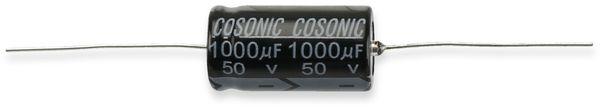 Elko, 1000 µF/50 V, 105°C, axial