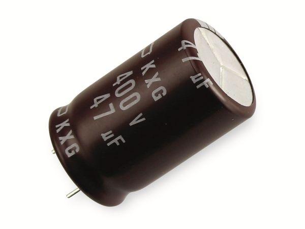 Elko, 47 µF/400 V, NIPPON CHEMI-CON KXG