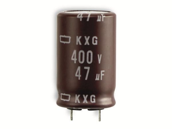 Elko, 47 µF/400 V, NIPPON CHEMI-CON KXG - Produktbild 2