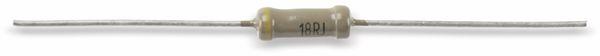Schichtwiderstand RFT 25.412.1, 18R, 0,7 W