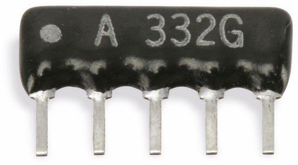 Widerstands-Netzwerk, 5P/4R, SIP, 10 kΩ , 2%