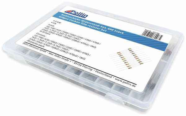 Widerstands Sortiment Kohleschicht 400 Stk., 0,25 W, 5% - Produktbild 2