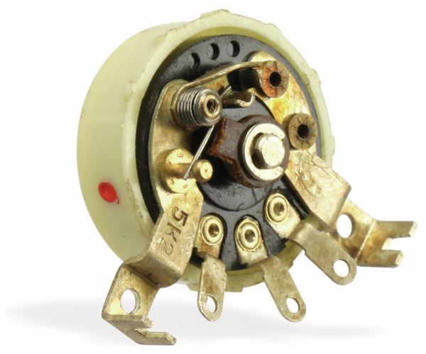 Radio-Potentiometer mit Schalter RFT/ELRADO, 5K2, log - Produktbild 1
