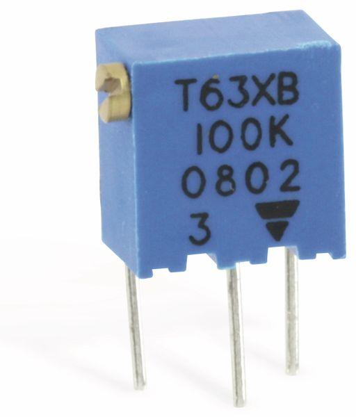 Miniatur-Spindeltrimmer VISHAY T63XB, 100K
