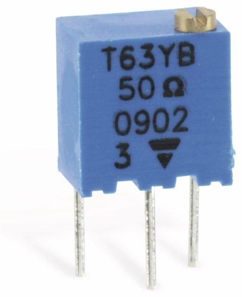 Miniatur-Spindeltrimmer VISHAY T63YB, 50R