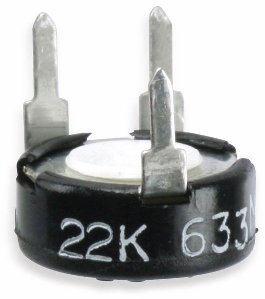 Potentiometer PIHER PT10KV10, 10 mm, 22 K, lin, 0,15 W - Produktbild 1