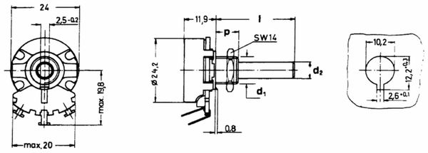 Drahtpoti mono linear 10 Ohm, 4 W - Produktbild 2