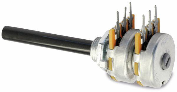 Potentiometer OMEG PC2G20BU, 100 kΩ, stereo, linear