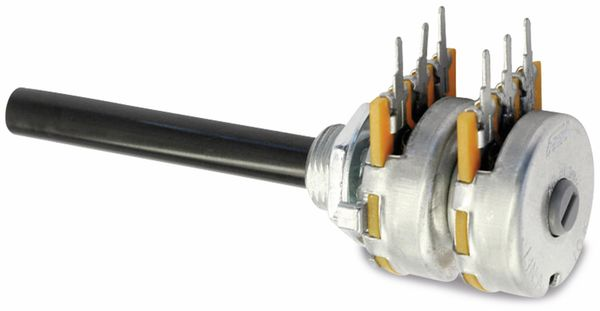Potentiometer OMEG PC2G20BU, 10 kΩ, stereo, logarithmisch