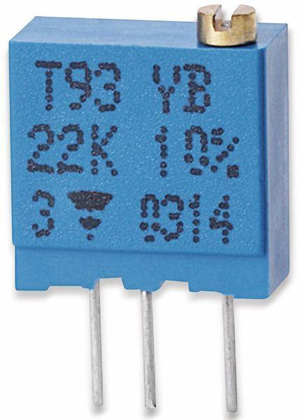 VISHAY Cermet-Trimmer T93YB, stehend, 0,5 W, 20 Ω