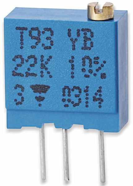 VISHAY Cermet-Trimmer T93YB, stehend, 0,5 W, 1 kΩ