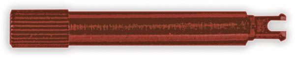 Steckachse, PIHER, 12mm, rot