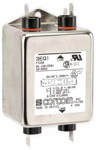 Einphasen-Netzfilter CORCOM 3EQ1 F7258, 3 A/250 V