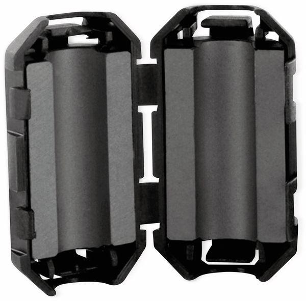 Klappferrit, Entstörfilter RF75 120 Ω für Kabeldurchmesser 5,0 mm (Max.)