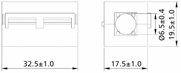 Klappferrit, Entstörfilter RF75 200 Ω für Kabeldurchmesser 6,5 mm (Max.) - Produktbild 2