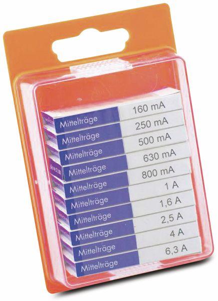 Feinsicherung-Sortiment, ESKA, 121800,(Ø x L) 5 mm x 20 mm Mittelträge -M- Inhalt 100 St.