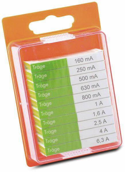 Feinsicherung-Sortiment, ESKA, 122800, (Ø x L) 5 mm x 20 mm Träge -T- Inhalt 100 St.