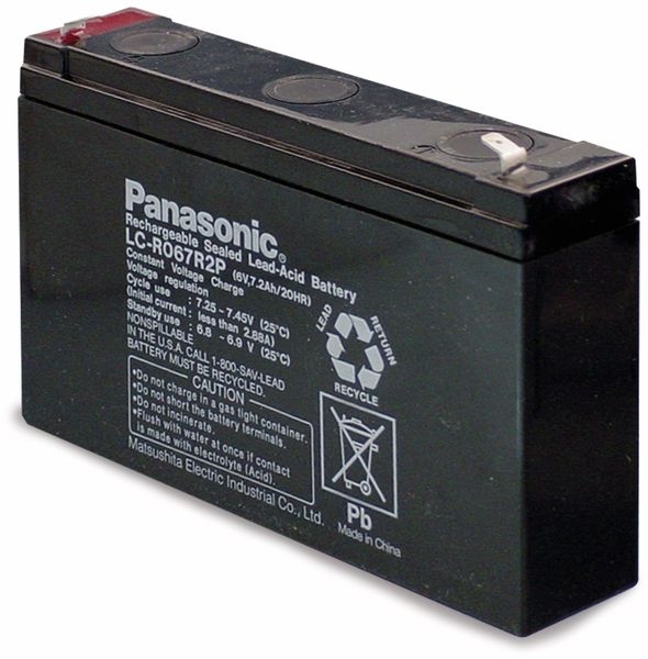 Bleiakkumulator PANASONIC LC-R067R2PG