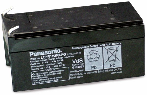 Bleiakkumulator PANASONIC LC-R123R4PG