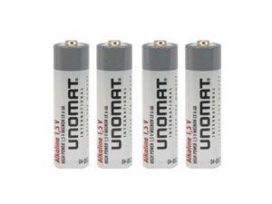 UNOMAT Alkaline-Batterieset, 4 Stück