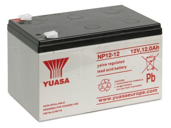 Blei-Akkumulator YUASA NP12-12, 12 V-/12 Ah