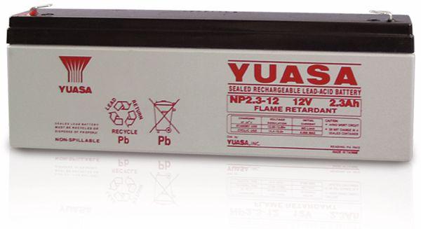 Blei-Akkumulator YUASA NP2.3-12, 12 V-/2,3 Ah - Produktbild 1