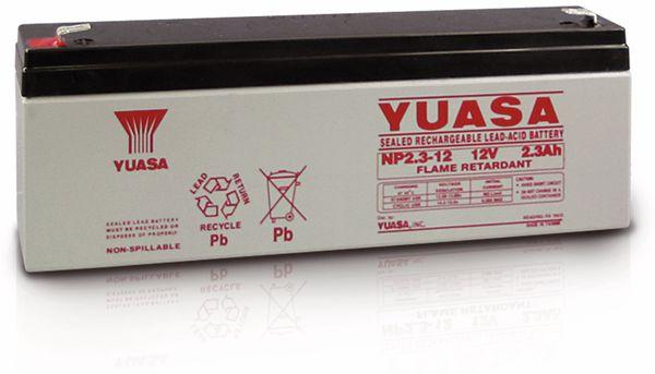 Blei-Akkumulator YUASA NP2.3-12, 12 V-/2,3 Ah - Produktbild 2