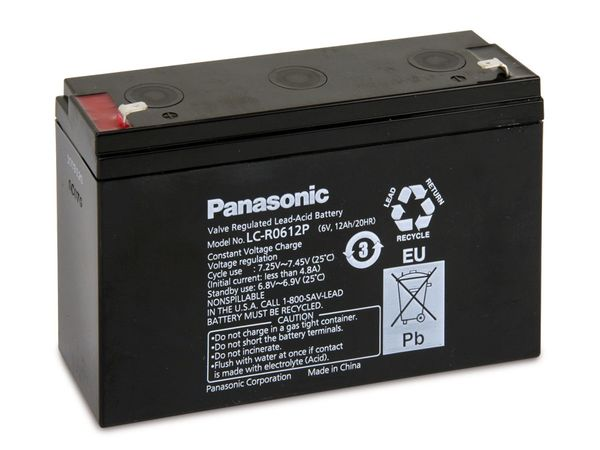 Bleiakkumulator PANASONIC LC-R0612P
