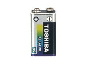 9 V Block-Batterie Toshiba Alkaline