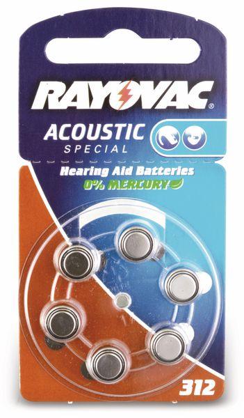 Hörgeräte-Batterien ZA312/HA312, RAYOVAC/VARTA